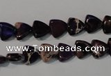 CDI719 15.5 inches 8*8mm triangle dyed imperial jasper beads
