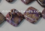 CDI720 15.5 inches 18*18mm diamond dyed imperial jasper beads