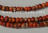 CDI731 15.5 inches 4*6mm rondelle dyed imperial jasper beads