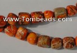 CDI732 15.5 inches 6*7mm � 8*9mm nuggets dyed imperial jasper beads