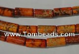 CDI736 15.5 inches 6*12mm tube dyed imperial jasper beads