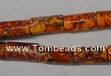 CDI738 15.5 inches 8*16mm tube dyed imperial jasper beads