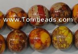 CDI742 15.5 inches 16mm round dyed imperial jasper beads