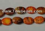 CDI750 15.5 inches 12*14mm oval dyed imperial jasper beads