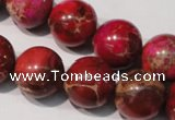CDI763 15.5 inches 16mm round dyed imperial jasper beads