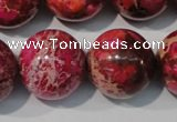 CDI764 15.5 inches 20mm round dyed imperial jasper beads