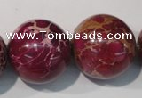 CDI765 15.5 inches 24mm round dyed imperial jasper beads