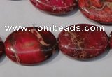 CDI783 15.5 inches 18*25mm oval dyed imperial jasper beads