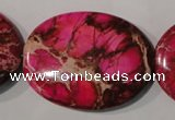 CDI784 15.5 inches 30*40mm oval dyed imperial jasper beads