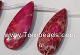 CDI799 Top-drilled 16*32mm flat teardrop dyed imperial jasper beads