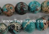 CDI806 15.5 inches 14mm round dyed imperial jasper beads wholesale