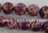 CDI835 15.5 inches 14mm round dyed imperial jasper beads wholesale