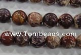 CDI843 15.5 inches 10mm round dyed imperial jasper beads wholesale