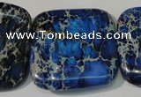 CDI903 15.5 inches 34*34mm square dyed imperial jasper beads