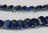 CDI911 15.5 inches 12mm flat round dyed imperial jasper beads