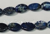 CDI913 15.5 inches 10*14mm oval dyed imperial jasper beads
