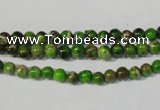 CDI920 15.5 inches 4mm round dyed imperial jasper beads