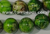 CDI923 15.5 inches 16mm round dyed imperial jasper beads