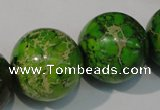 CDI925 15.5 inches 24mm round dyed imperial jasper beads