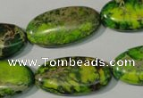 CDI941 15.5 inches 15*30mm oval dyed imperial jasper beads