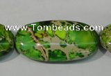 CDI942 15.5 inches 30*40mm oval dyed imperial jasper beads