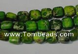 CDI944 15.5 inches 8*8mm square dyed imperial jasper beads
