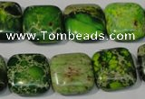 CDI945 15.5 inches 16*16mm square dyed imperial jasper beads