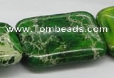 CDI96 16 inches 30*40mm rectangle dyed imperial jasper beads wholesale