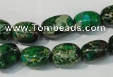 CDI960 15.5 inches 10*13mm nuggets dyed imperial jasper beads