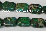 CDI974 15.5 inches 12*16mm rectangle dyed imperial jasper beads