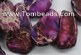 CDI981 15 inches 15*20mm – 25*48mm freeform dyed imperial jasper beads