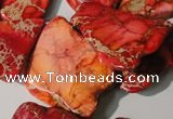 CDI982 15 inches 20*30mm – 25*40mm freeform dyed imperial jasper beads