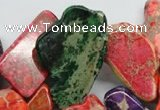 CDI983 15 inches 15*30mm � 26*55mm freeform dyed imperial jasper beads