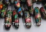 CDI990 15.5 inches 8*14mm - 8*24mm dyed imperial jasper chips beads