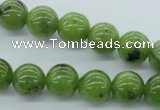 CDJ141 15.5 inches 8mm round Canadian jade beads wholesale