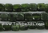 CDJ148 15.5 inches 6*6mm square Canadian jade beads wholesale