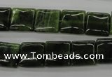 CDJ150 15.5 inches 12*12mm square Canadian jade beads wholesale