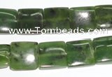 CDJ151 15.5 inches 13*13mm square Canadian jade beads wholesale