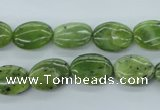 CDJ160 15.5 inches 10*14mm oval Canadian jade beads wholesale