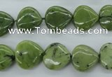 CDJ163 15.5 inches 13*13mm heart Canadian jade beads wholesale