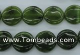 CDJ165 15.5 inches 14mm flat round Canadian jade beads wholesale