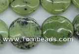 CDJ166 15.5 inches 20mm flat round Canadian jade beads wholesale