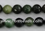 CDJ264 15.5 inches 12mm faceted round Canadian jade beads wholesale