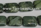 CDJ32 15.5 inches 15*20mm rectangle Canadian jade beads wholesale
