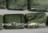 CDJ33 15.5 inches 18*25mm rectangle Canadian jade beads wholesale