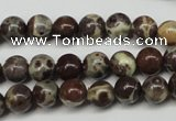 CDM02 15.5 inches 6mm round African dalmatian jasper beads