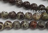 CDM03 15.5 inches 8mm round African dalmatian jasper beads