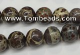 CDM05 15.5 inches 12mm round African dalmatian jasper beads