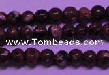 CDM50 15 inches 4mm round strawberry dalmatian jasper beads