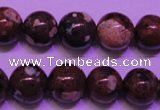 CDM52 15 inches 8mm round strawberry dalmatian jasper beads